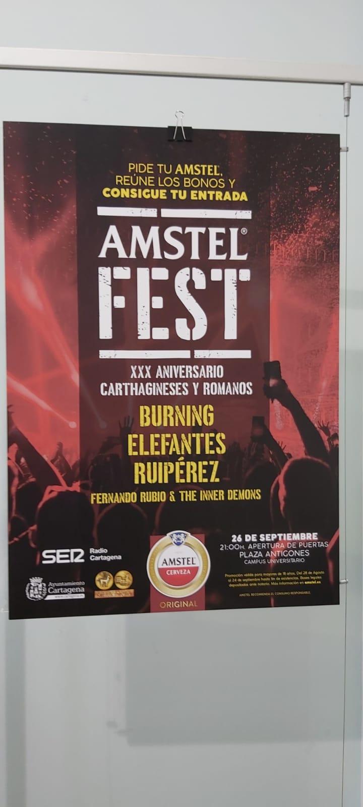 Vuelve el 'Conciertazo' de Amstel bajo el nombre 'Amstel Fest'