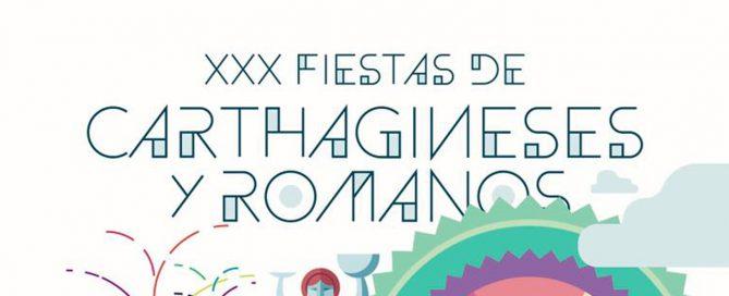 Cartel Oficial del XXX Aniversario de Carthagineses y Romanos - Noche de los museos