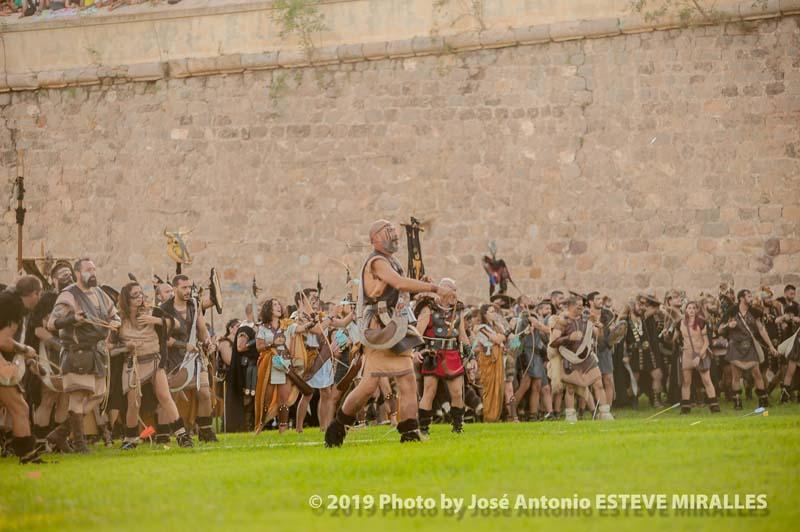 Imágenes de la batalla
