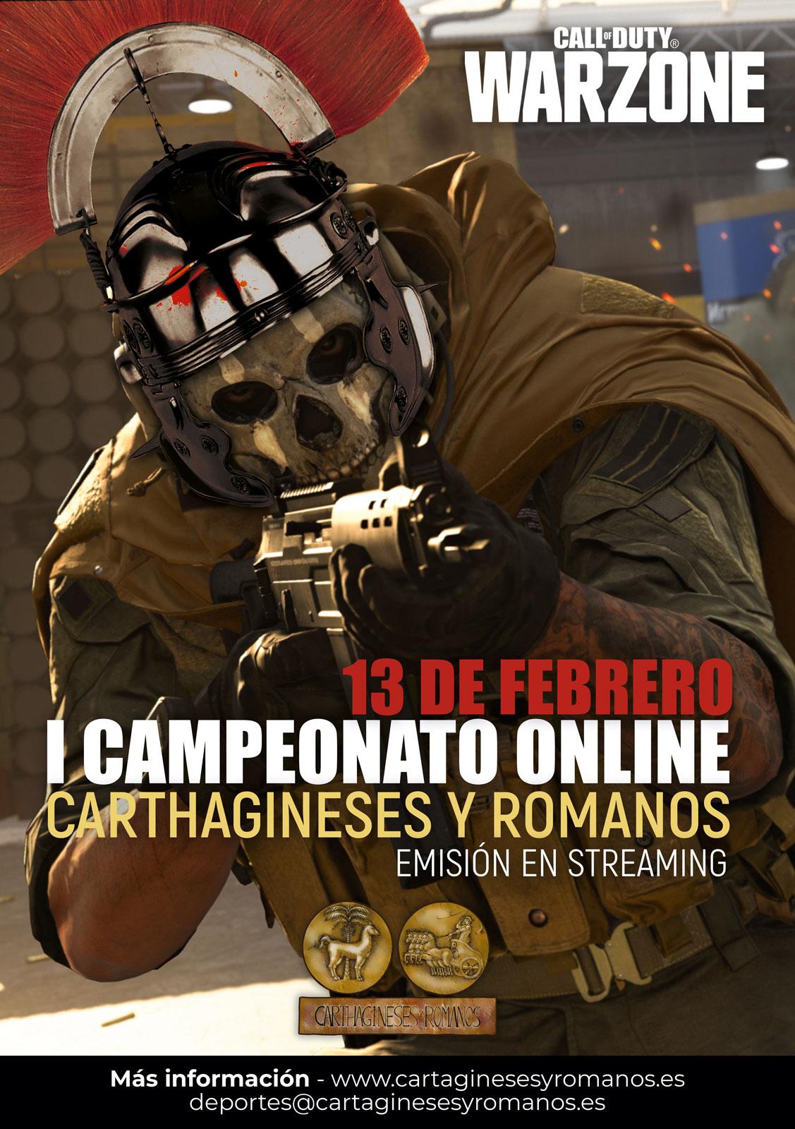 I Campeonato de Juegos Online Carthagineses y Romanos - Call of Duty WARZONE