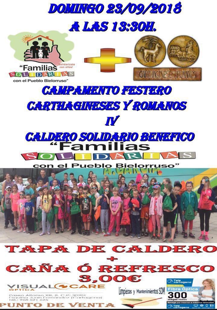 IV Caldero Solidario Carthagineses y Romanos con las Familias Solidarias con el Pueblo Bielorusso
